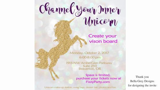 Vision Board Party Invitation Best Of Unicorn Vision Board Party