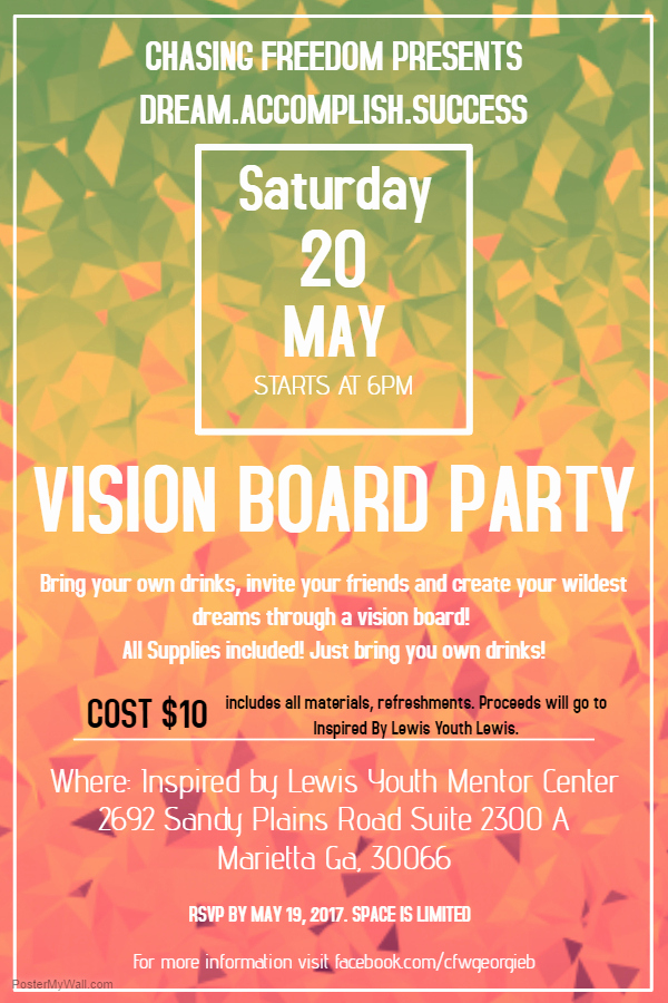 Vision Board Party Invitation Lovely byob Vision Board Party Tickets Sat May 20 2017 at 6