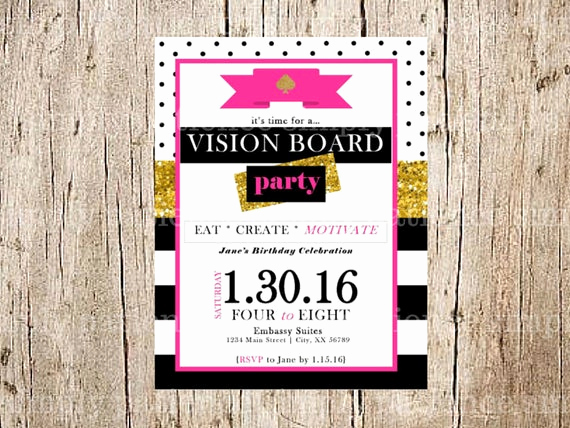 Vision Board Party Invitation Luxury Vision Board Party Invitation