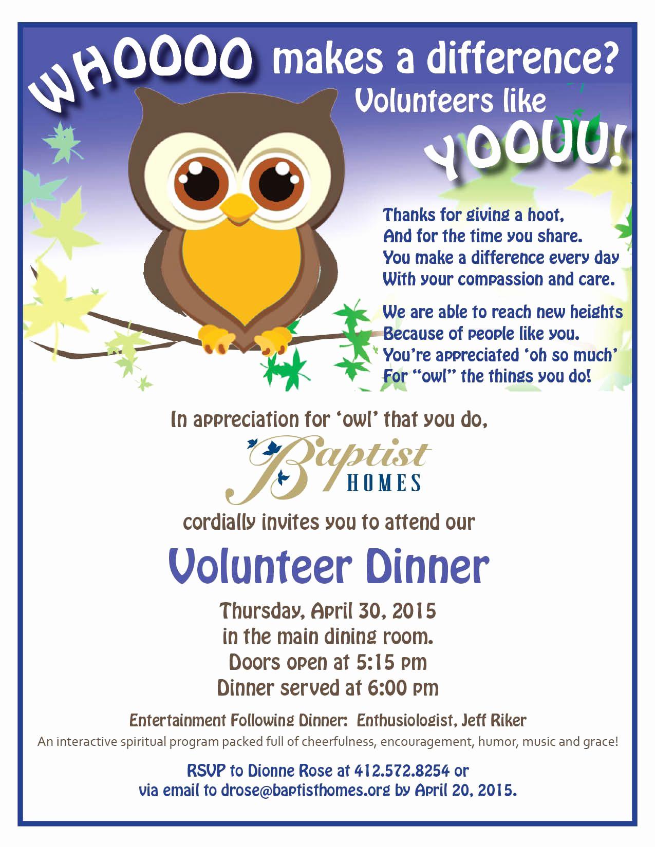 Volunteer Appreciation Invitation Wording Beautiful Baptist Homes Volunteer Banquet Invitations How to