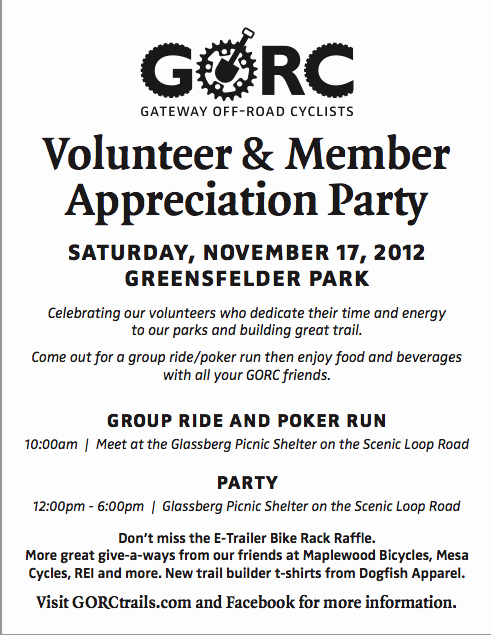 Volunteer Appreciation Invitation Wording Beautiful Gateway F Road Cyclists Gorc