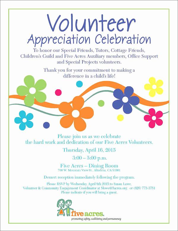 Volunteer Appreciation Invitation Wording Best Of 39 event Invitations In Word