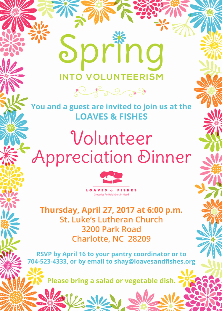Volunteer Appreciation Invitation Wording Fresh My Work