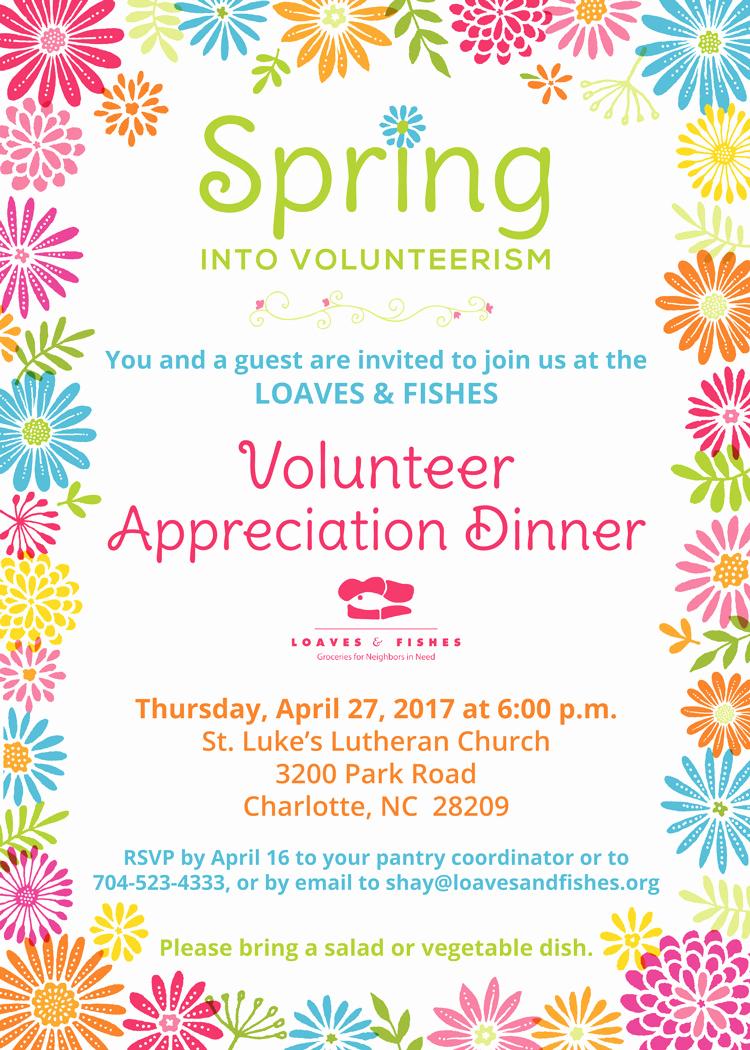 Volunteer Appreciation Invitation Wording Fresh My Work