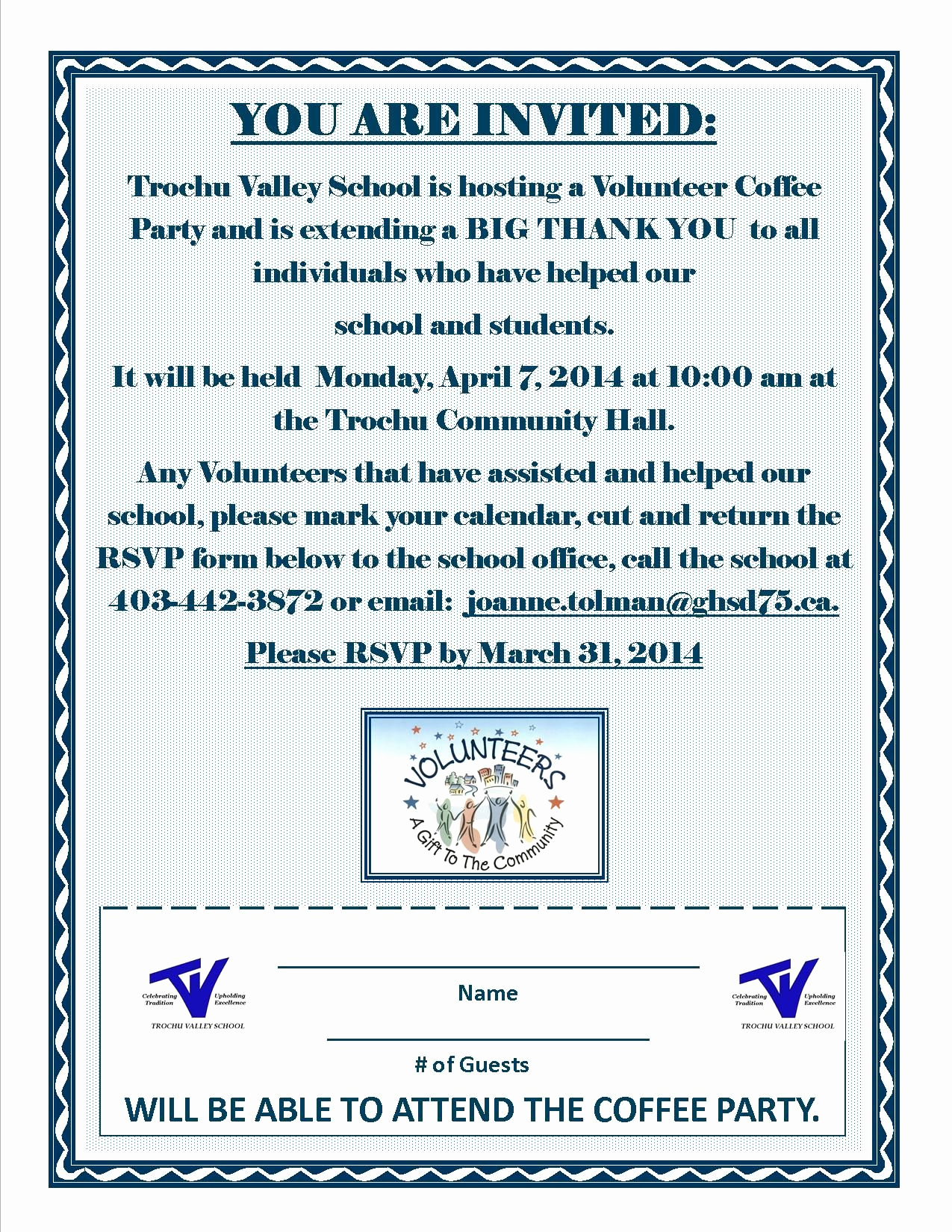 Volunteer Appreciation Invitation Wording Inspirational School Volunteer Appreciation Invitation Volunteer