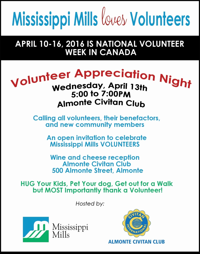 Volunteer Appreciation Invitation Wording Inspirational Volunteer Appreciation Night — April 13