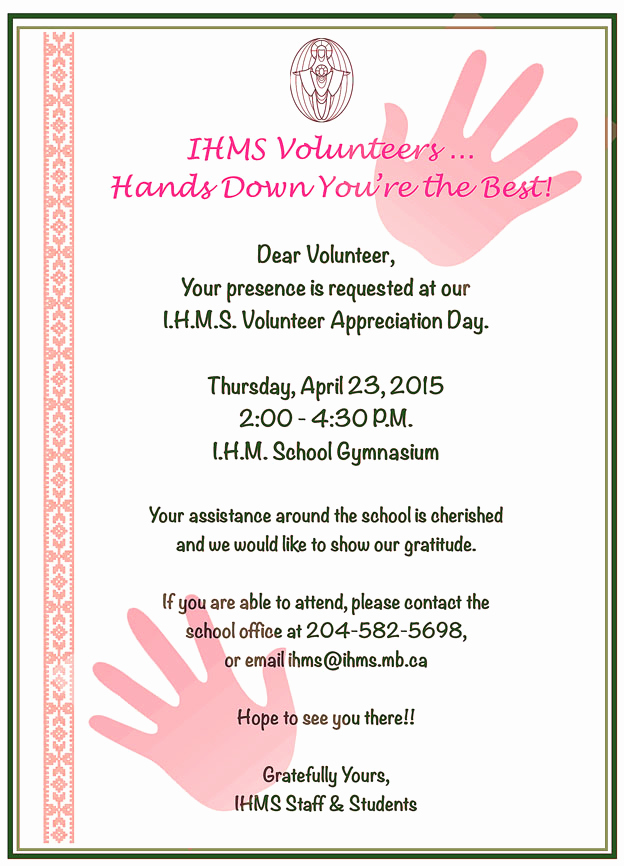 Volunteer Appreciation Invitation Wording Inspirational Volunteer Appreciation Reception