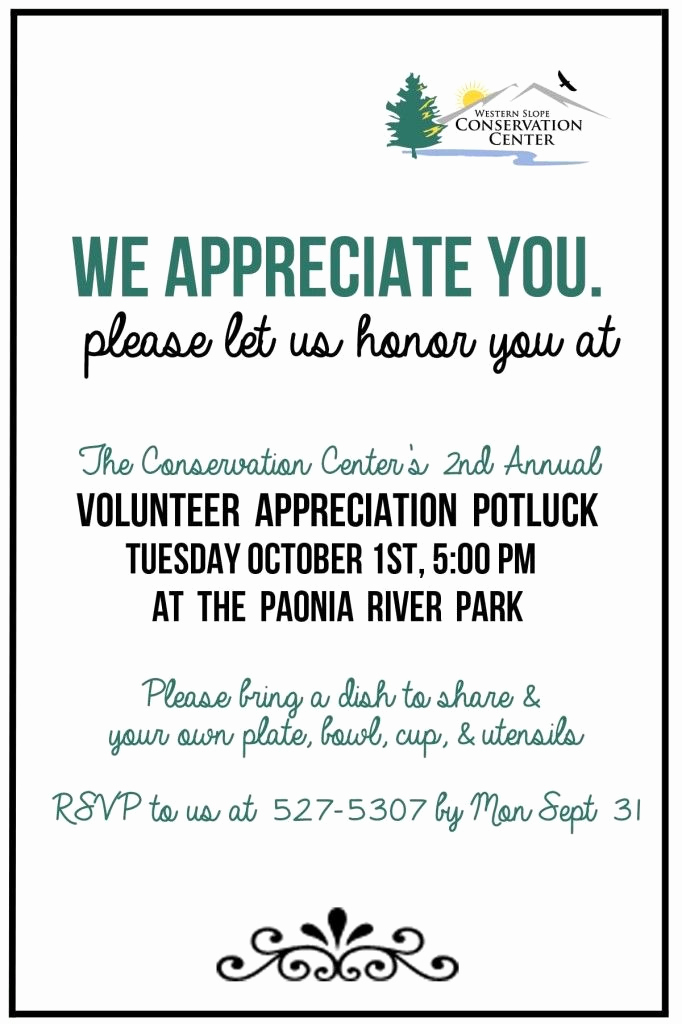 Volunteer Appreciation Invitation Wording Lovely Volunteer Appreciation Invite Internet Prc