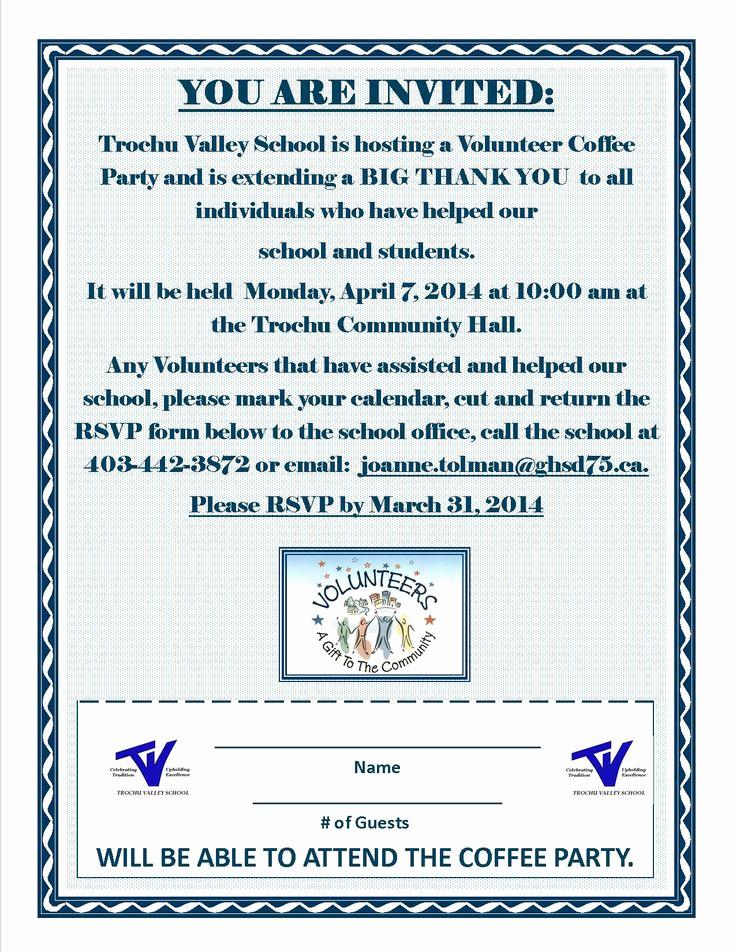 Volunteer Appreciation Invitation Wording New School Volunteer Appreciation Invitation Volunteer