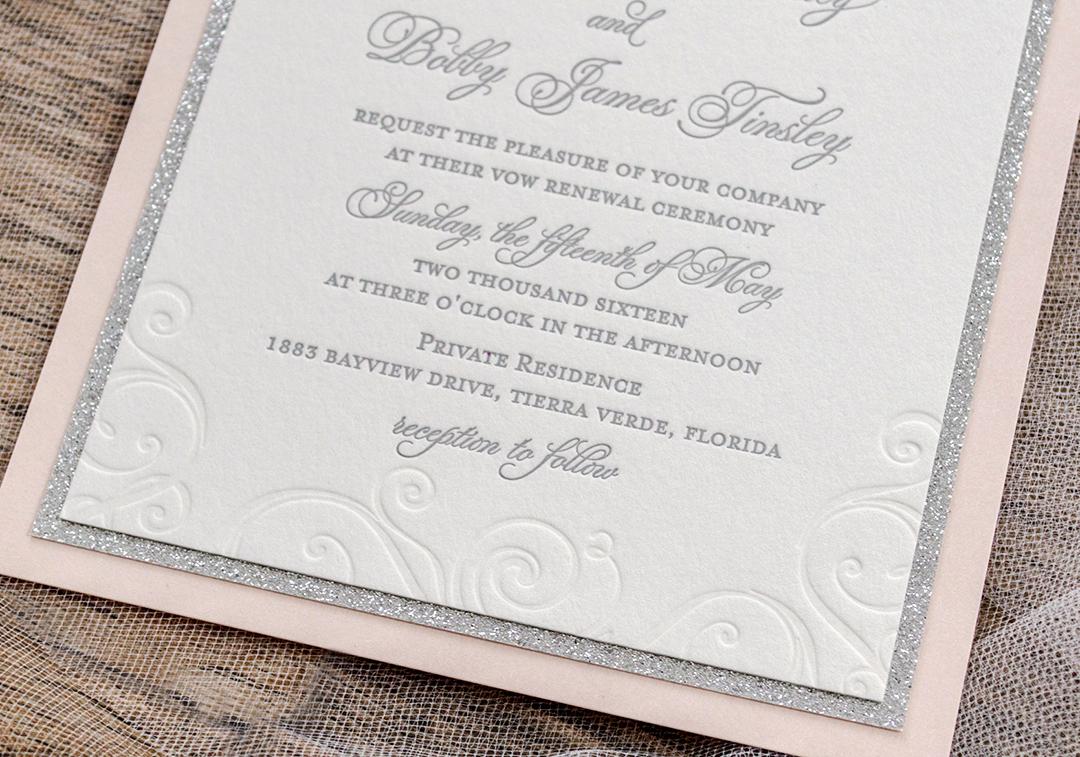 Vow Renewal Invitation Templates Free Inspirational Lettepress Beach Vow Renewal Invitations A&p Designs