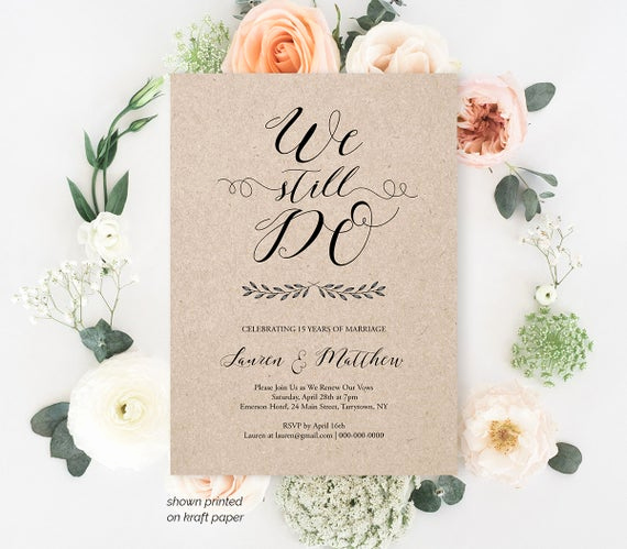 Vow Renewal Invitation Templates Free Inspirational Vow Renewal Invitation Template We Still Do Calligraphy