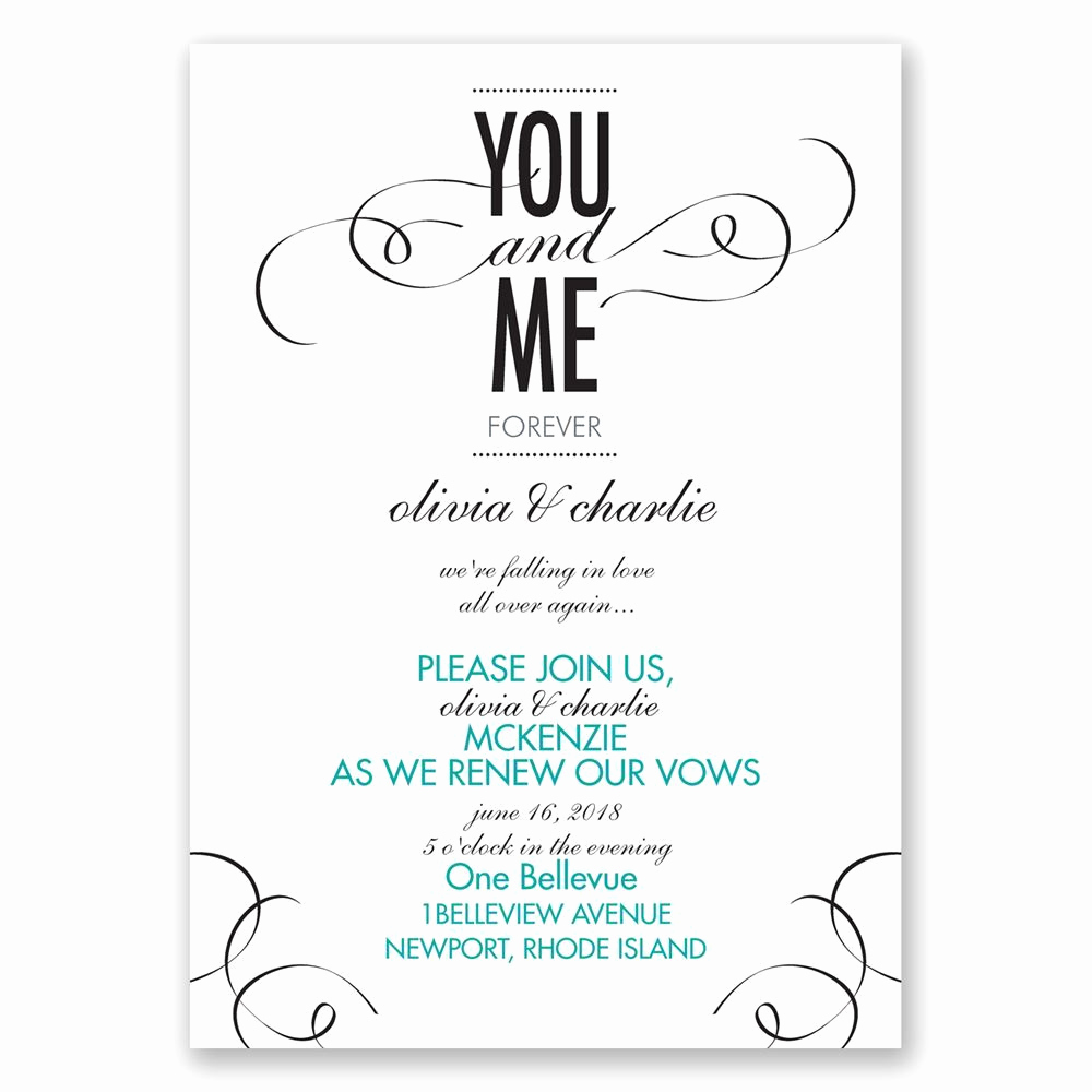 Vow Renewal Invitation Templates Free Inspirational You and Me Vow Renewal Invitation