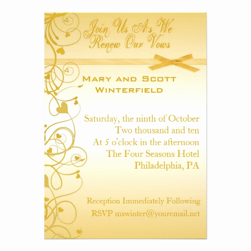 "Vow Renewal Invitation Wording Elegant Wedding Vow Renewal Invitations 5"" X 7"" Invitation Card"