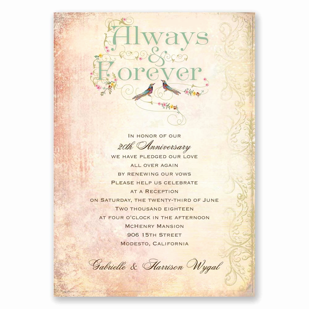 Vow Renewal Invitation Wording Lovely Always and forever Vow Renewal Invitation