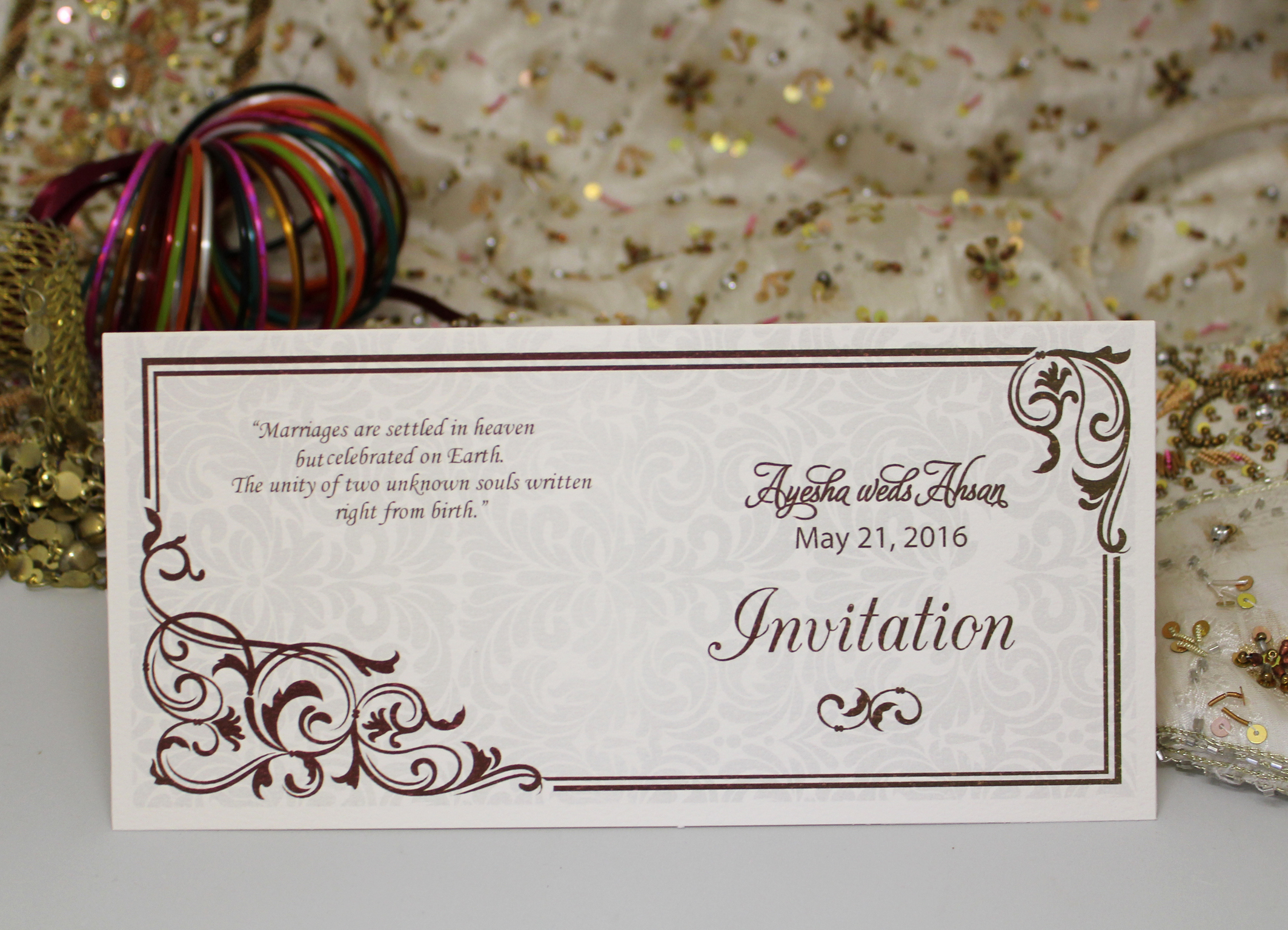 Walima Invitation Cards Wordings Awesome Muslim Walima Card [zaq1] £0 85 Special Shaadi Cards