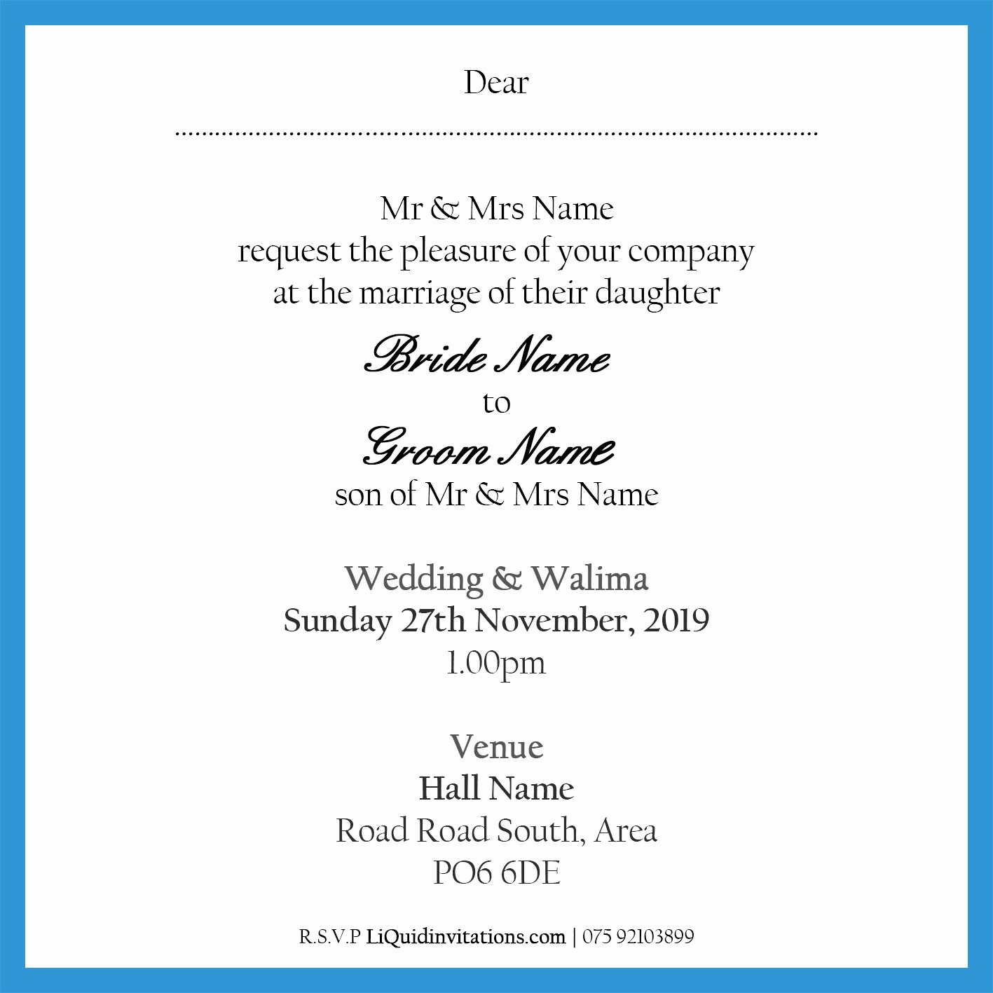 Walima Invitation Cards Wordings Best Of Muslim Wedding Invitation Wordings