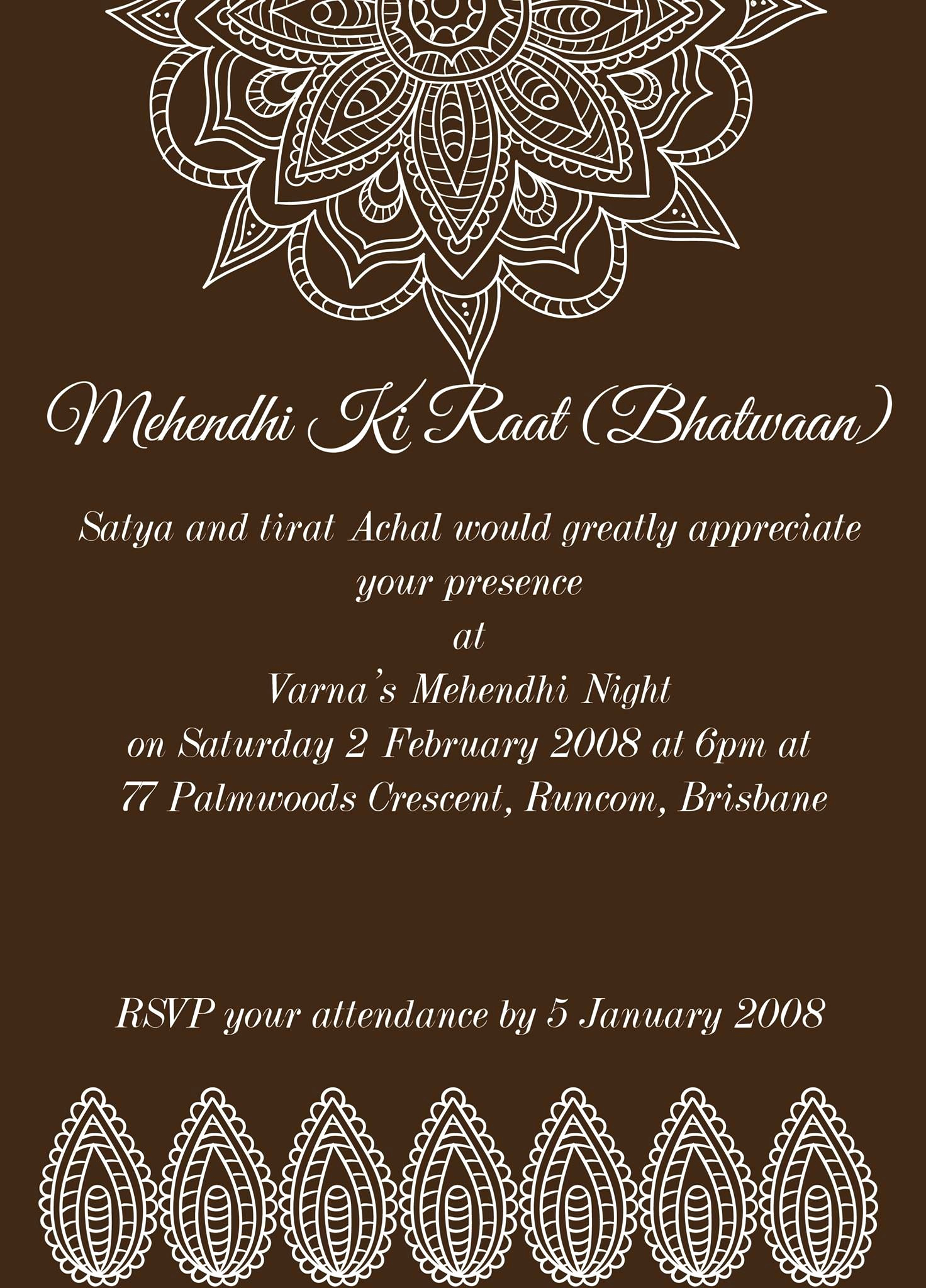 Walima Invitation Cards Wordings Inspirational Pin by Invite Line On Mehndi Invitations Wording