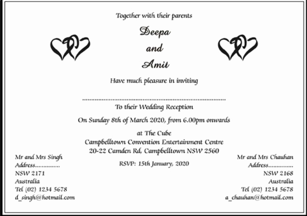 Walima Invitation Cards Wordings Lovely What are some Wedding Invitation Card Wordings to Give It