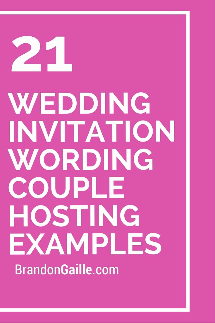 Walima Invitation Cards Wordings Unique 21 Wedding Invitation Wording Couple Hosting Examples