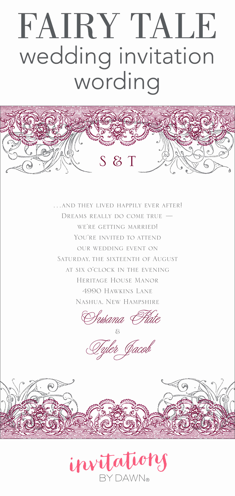 Wedding after Party Invitation Wording Awesome Fairy Tale Wedding Invitation Wording