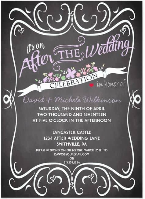 Wedding after Party Invitation Wording Elegant 21 Beautiful at Home Wedding Reception Invitations