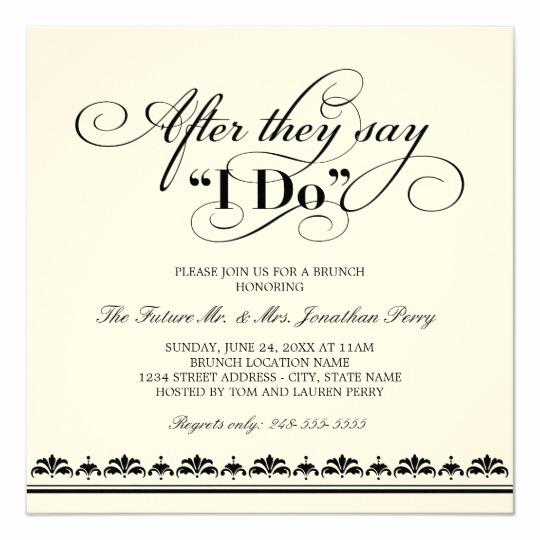Wedding after Party Invitation Wording Elegant Day after Wedding Brunch Invitation Wedding Vows