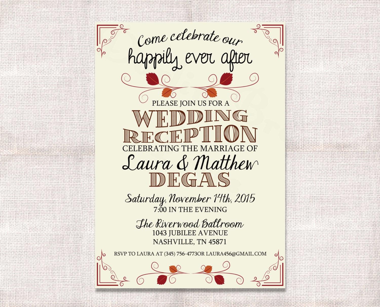Wedding after Party Invitation Wording Elegant Wedding Reception Celebration after Party Invitation Custom