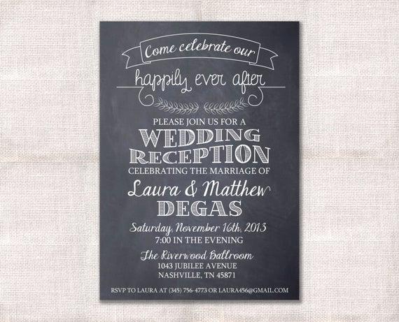 Wedding after Party Invitation Wording Fresh Wedding Reception Celebration after Party Invitation Custom