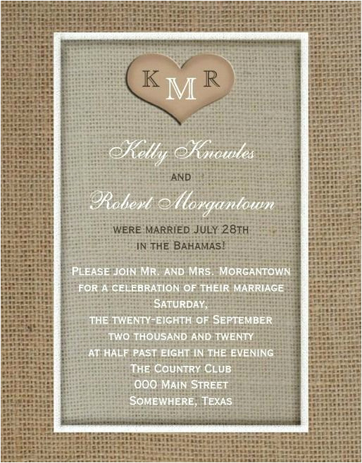 Wedding after Party Invitation Wording Fresh Wording for Reception after Destination Wedding