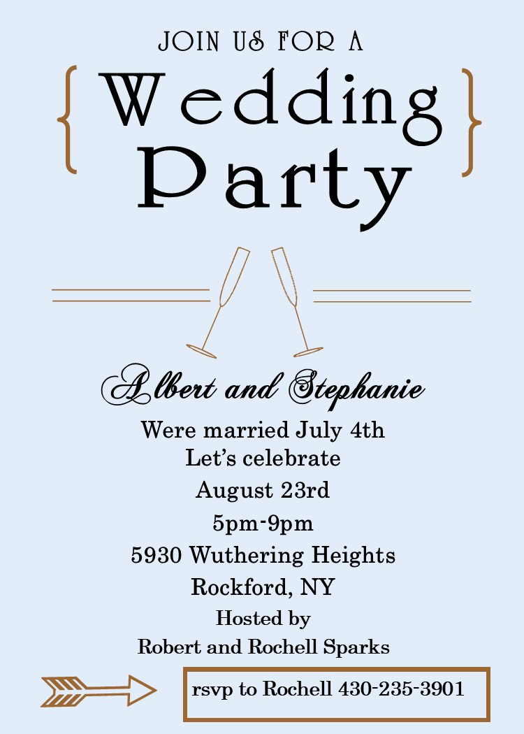 Wedding after Party Invitation Wording Inspirational Elopement Party Invitations Reception Ly Invitations