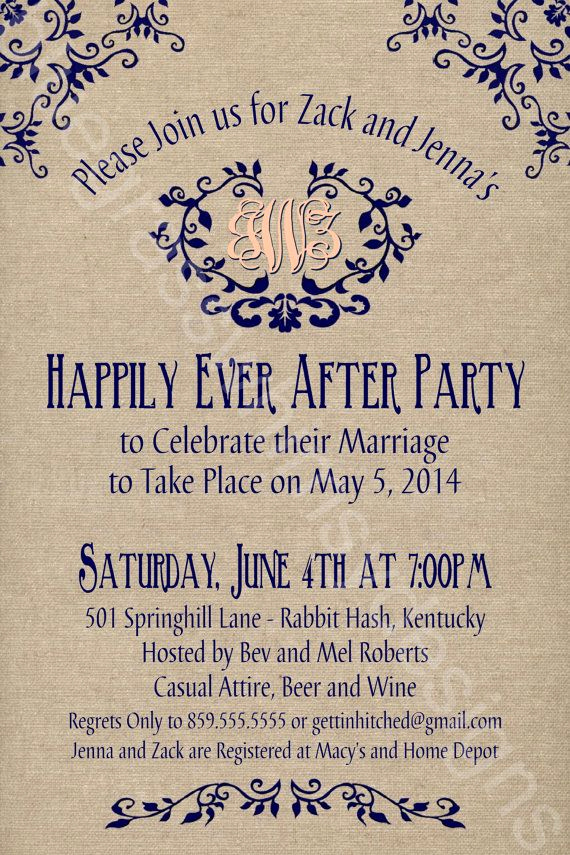 Wedding after Party Invitation Wording New 25 Best Ideas About Reception Invitations On Pinterest