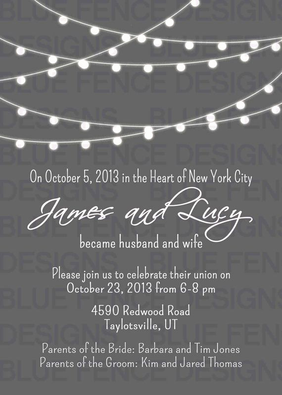 Wedding after Party Invitation Wording New 9 Best Post Reception Invitations Images On Pinterest