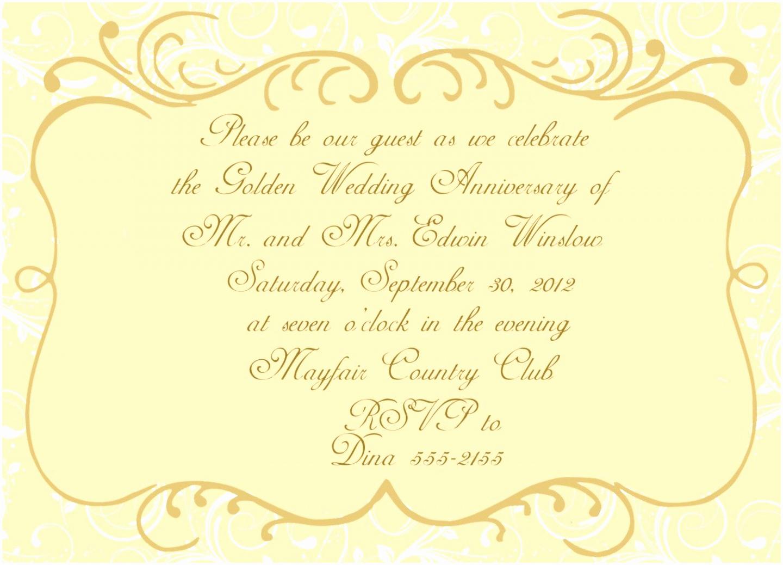 Wedding Anniversary Invitation Template Beautiful 5 Golden Anniversary Invitation Templates Yaptw