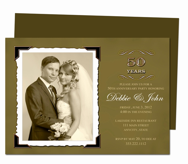 Wedding Anniversary Invitation Template Inspirational 17 Best Images About 25th & 50th Wedding Anniversary