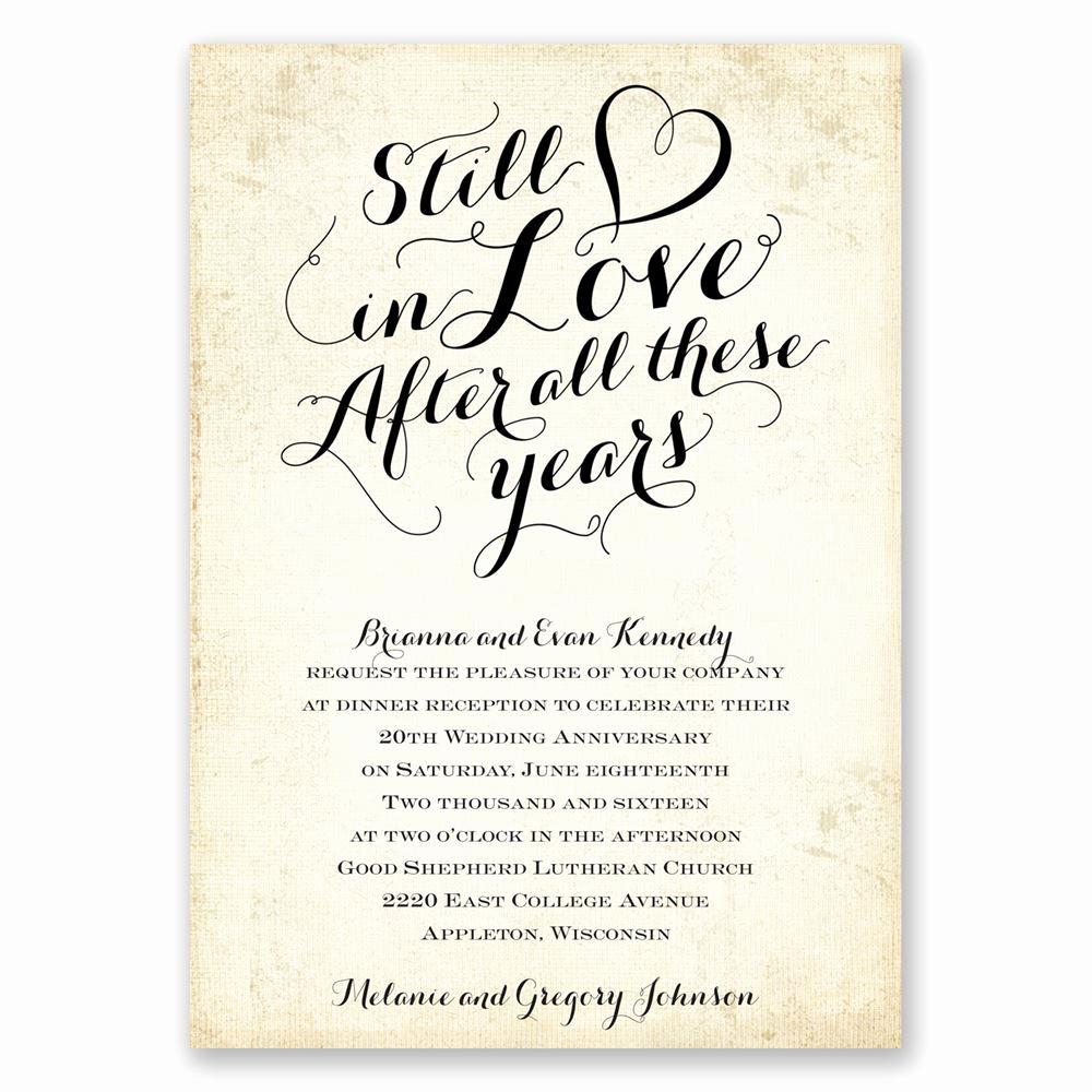 Wedding Anniversary Invitation Template Lovely Still In Love Anniversary Invitation