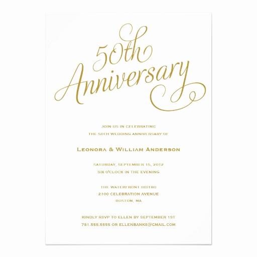 Wedding Anniversary Invitation Template Luxury 50th Wedding Anniversary Invitation Superdazzle Custom
