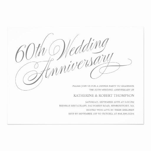 Wedding Anniversary Invitation Template New 60th Wedding Anniversary Invitation Templates