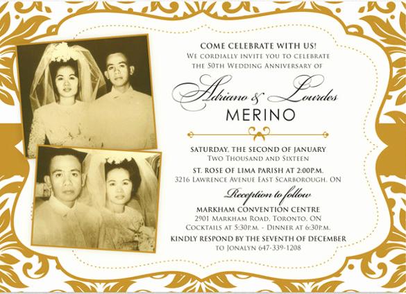 Wedding Anniversary Invitation Template Unique 50th Anniversary Invitation Template Templates Resume