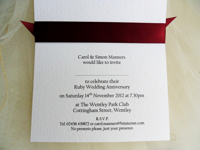 Wedding Anniversary Invitation Wording Awesome 40th Wedding Invitations Ruby Wedding Anniversary