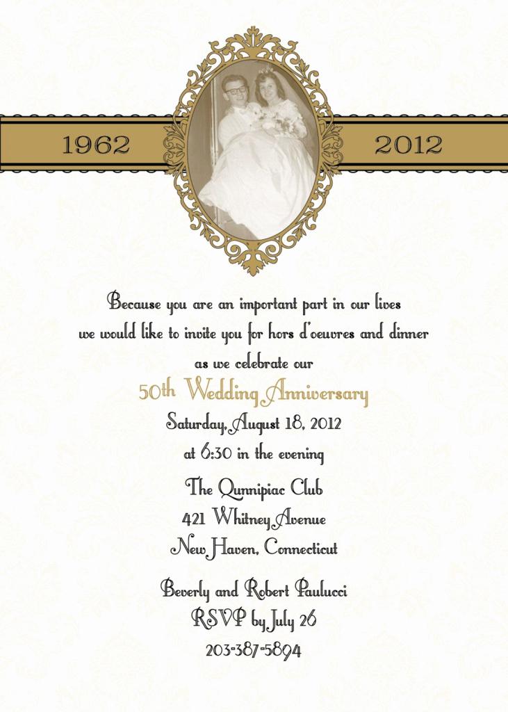 Wedding Anniversary Invitation Wording Inspirational Golden Wedding Invitations Wording