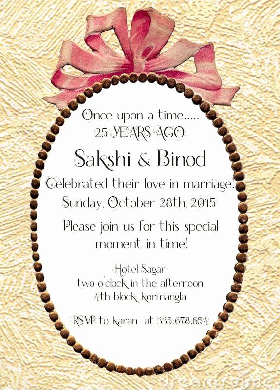 Wedding Anniversary Invitation Wording Luxury 22 Best 25th Silver Wedding Anniversary Invitation