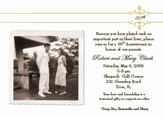 Wedding Anniversary Invitation Wording Luxury 50th Wedding Anniversary Invitation
