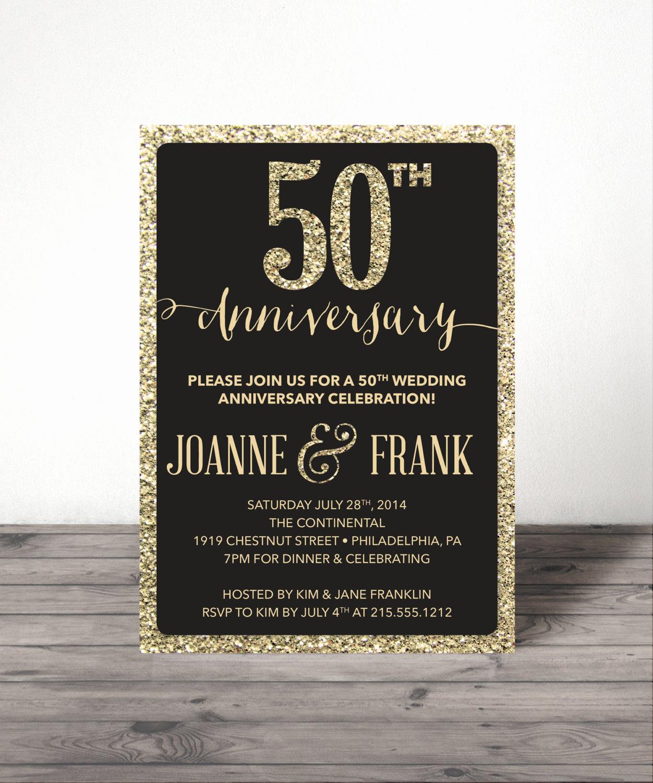 Wedding Anniversary Invitation Wording Unique Wedding Anniversary Invite 25th 30th 40th by