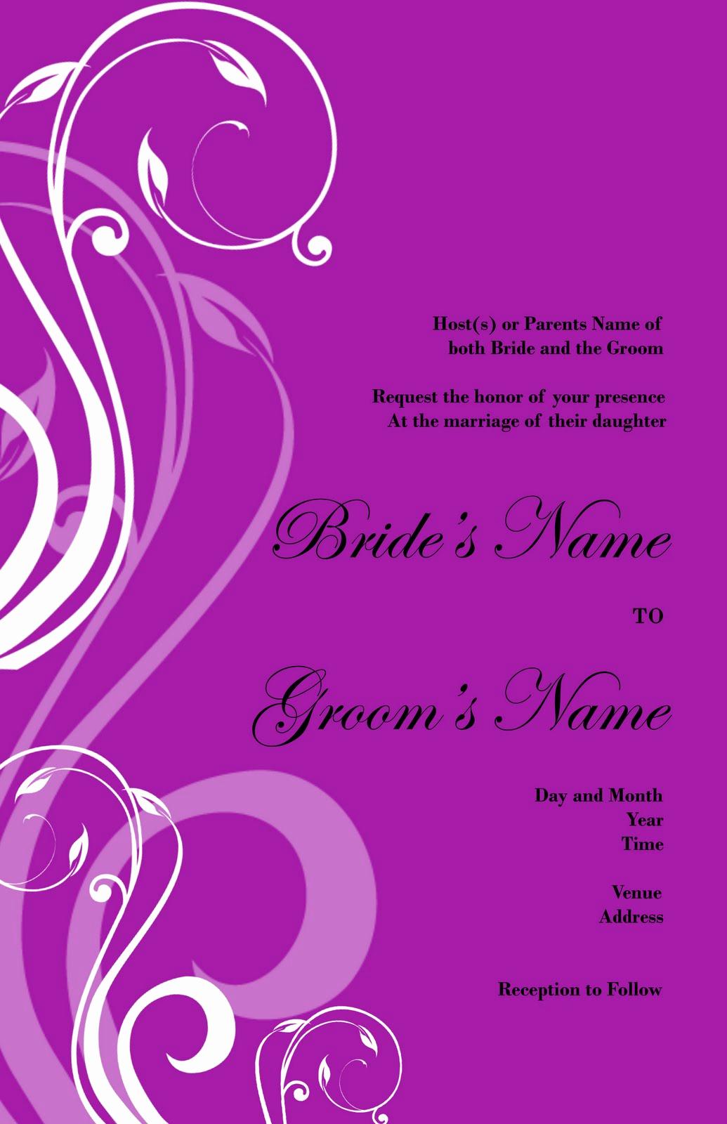 purple wedding invitation background designs 5