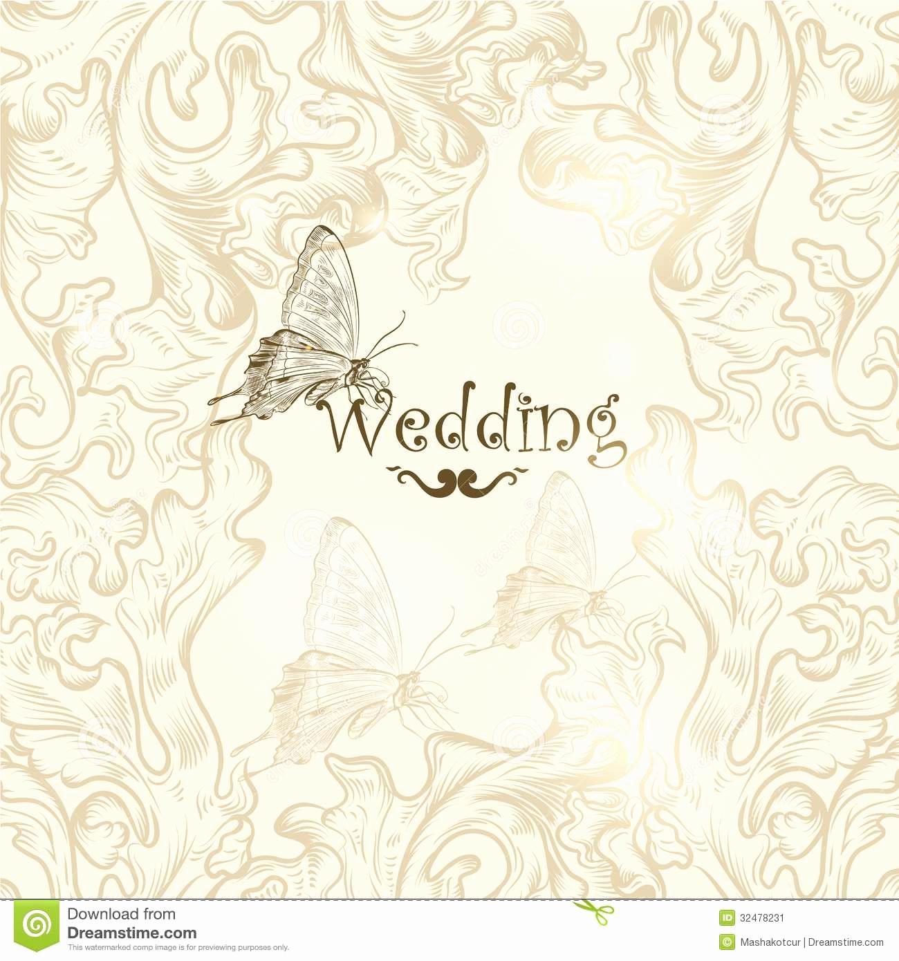 Wedding Invitation Background Designs Inspirational Cute Wedding Background for Design Stock Vector
