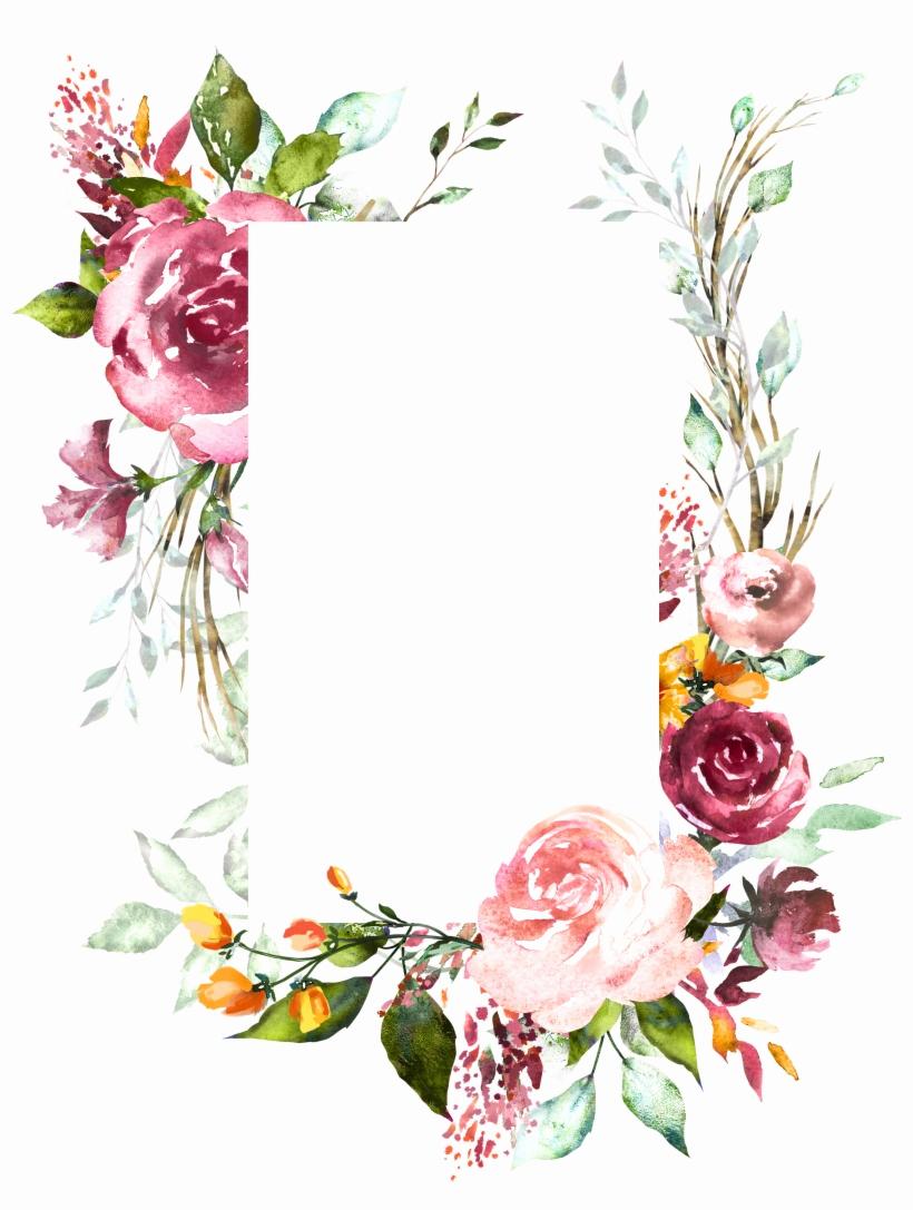 Wedding Invitation Background Designs Inspirational H804 Flower Frame Flower Art Watercolor Flowers