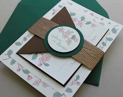 Wedding Invitation Belly Band Template Best Of Diy Spring Branch Wedding Invitation Set with Invitation