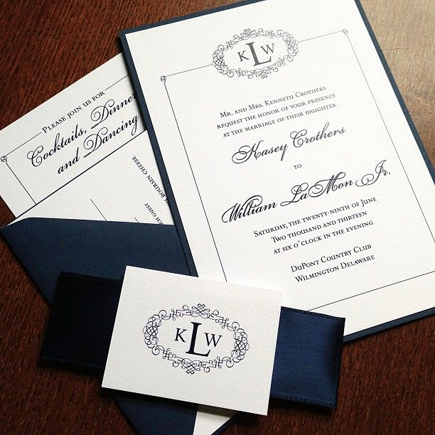 Wedding Invitation Belly Band Template Best Of Navy Blue and White Wedding Invitation with Satin Ribbon