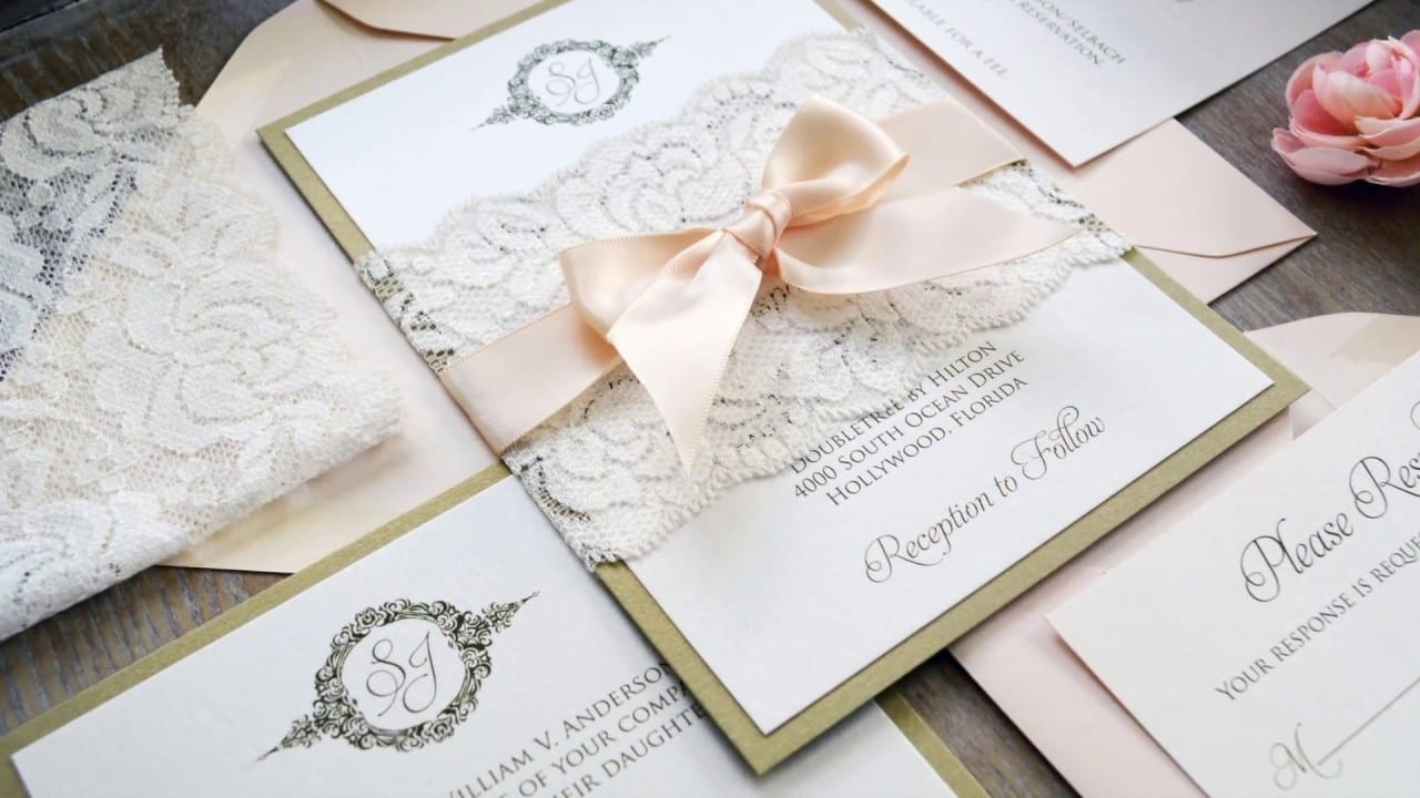 Wedding Invitation Belly Band Template Luxury Diy Wedding Invitations Using Lace Belly Bands
