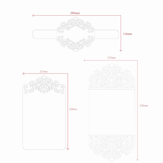 Wedding Invitation Belly Band Template New Laser Cut Wedding Invitation Templates Card Envelope
